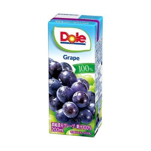 【送料無料】【2ケースセット】Dole(ドール) グレープ 100% 200ml紙パック×18本入×(2ケース)|nozomi-market