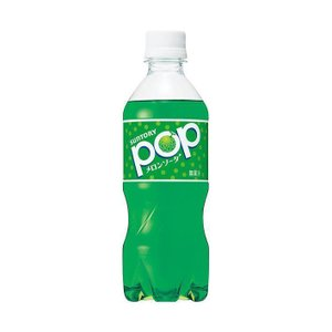 送料無料 サントリー POPメロンソーダ【自動販売機用】 430mlペットボトル×24本入|nozomi-market
