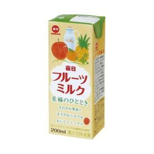 【送料無料】【2ケースセット】毎日牛乳 毎日フルーツミルク 200ml紙パック×24本入×(2ケース)|nozomi-market