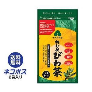 【全国送料無料】【ネコポス】十津川農場 ねじめびわ茶24 (2gティーバッグ 24包入) 24P×2袋入|nozomi-market