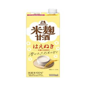 送料無料 森永製菓 森永のやさしい米麹甘酒 1000ml紙パック×6本入|nozomi-market