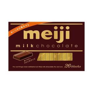 送料無料 明治 ミルクチョコレートBOX 120g(26枚)×6箱入