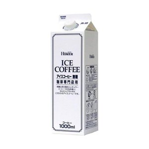 【送料無料】【2ケースセット】ホーマー アイスコーヒー 無糖 1000ml紙パック×12本入×(2ケース)|nozomi-market