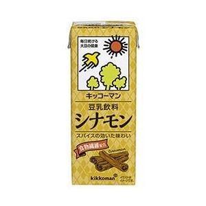 【送料無料】キッコーマン 豆乳飲料 シナモン 200ml紙パック×18本入|nozomi-market