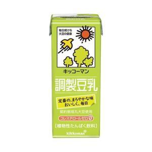 送料無料 キッコーマン 調製豆乳 200ml紙パック×18本入|nozomi-market