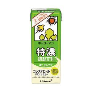 【送料無料】キッコーマン 特濃調製豆乳【特定保健用食品 特保】 200ml紙パック×18本入|nozomi-market