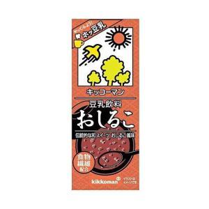 送料無料 キッコーマン 豆乳飲料 おしるこ 200ml紙パック×18本入|nozomi-market