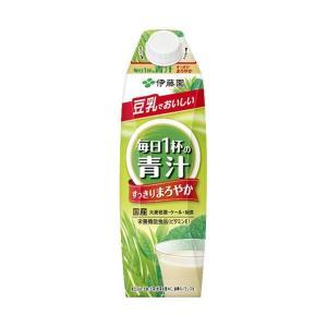 送料無料 伊藤園 毎日1杯の青汁 まろやか豆乳ミックス 1000ml紙パック×12(6×2)本入|nozomi-market