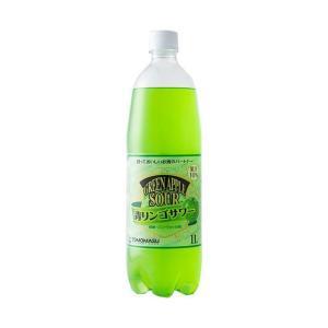【送料無料】友桝飲料 青りんごサワー 1Lペットボトル×15本入|nozomi-market