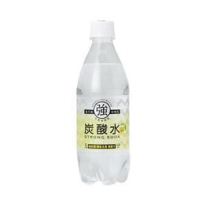 【送料無料】友桝飲料 強炭酸水レモン 500mlペットボトル×24本入|nozomi-market
