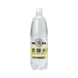 【送料無料】友桝飲料 強炭酸水レモン 1Lペットボトル×15本入|nozomi-market