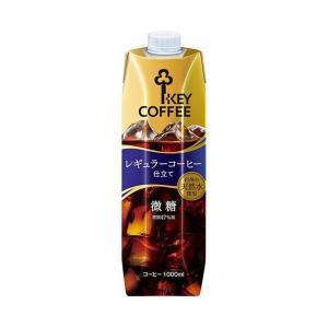 送料無料 KEY COFFEE(キーコーヒー) リキッドコーヒー微糖 1L紙パック×6本入|nozomi-market