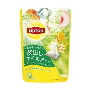 送料無料 リプトン コールドブリュー グリーンティー ピーチ&オレンジ ティーバッグ 12P×6袋入|nozomi-market