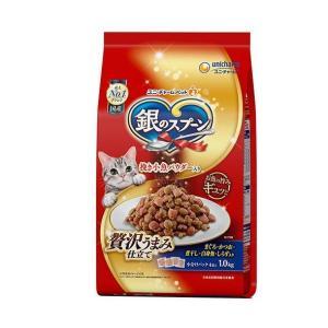 送料無料 ユニチャーム 銀のスプーン 贅沢うまみ仕立てまぐかつお煮干し入り 1kg×8袋入|nozomi-market