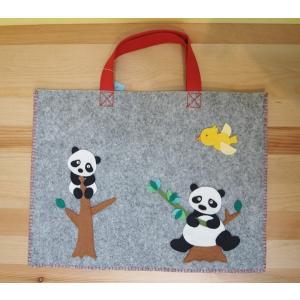 おけいこバッグキット(パンダ)|nponuigurumi