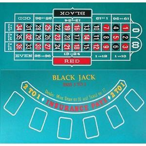 カジノレイアウト ルーレット&ブラックジャック リバーシブル 120cm*60cm Mサイズ