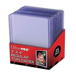 【ウルトラプロ UltraPro 収集用品】 トップローダー レギュラー (クリア) 25枚入りパック (#81222)|ns-progress