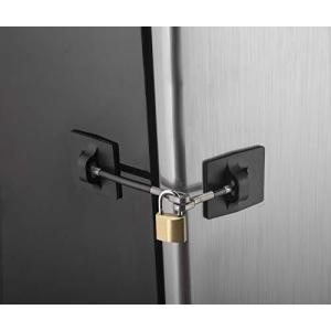 Computer Security Products Refrigerator Door Lock With Padlock Black ns-progress