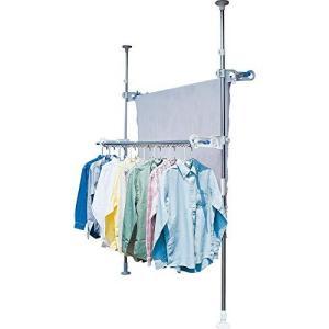 アイリスオーヤマ 洗濯物干し ベランダ 物干し 突っ張り ステンレス 高さ210~275cm SVI-275NR|ns-progress