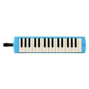 ヤマハ YAMAHA PIANICA ピアニカ 鍵盤ハーモニカ 32鍵 ブルー P-32E 子どもたちの使い勝手を追求した新しいデザイン 同系色のプラ|ns-progress