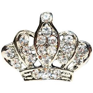きらきら ロイヤル クラウン 王冠 ピンバッチ 王室風 ブローチ ラペルピン メンズアクセサリー レディースアクセサリー【シルバー/銀】 ns-progress