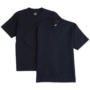 [ヘインズ] ビーフィー Tシャツ BEEFY-T 2枚組 綿100% 肉厚生地 ヘビーウェイトT H5180-2 メンズ ネイビー XS|ns-progress