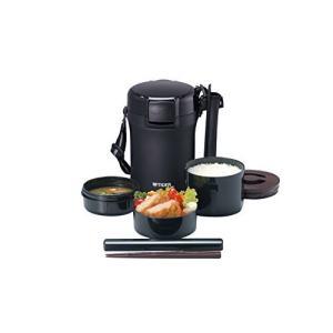 タイガー 魔法瓶 保温 弁当箱 ステンレス ランチ ジャー 茶碗 約 3 杯分 ブラック LWU-A172-KM Tiger|ns-progress