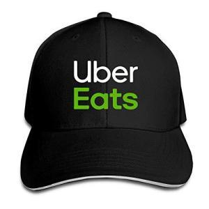 男女兼用 Uber Eats 速乾 帽子 調整可能 春夏 軽薄 アウトドア 日よけ野球帽 One Size|ns-progress