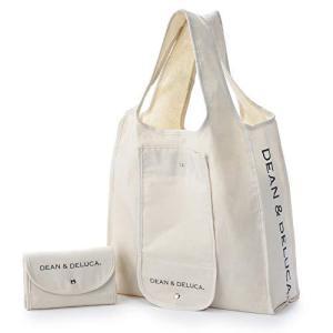 DEAN&DELUCA ショッピングバッグ ナチュラル エコバッグ 折りたたみ 軽量 コンパクト レジ袋 マイバッグ|ns-progress