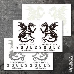 N's stagexSouls Newステッカー SOULSドラゴン双龍ロゴ|ns-stage