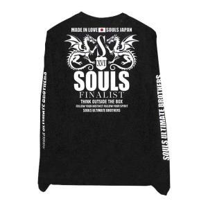 SOULS コットンロングTシャツ ドラゴンデザイン|ns-stage
