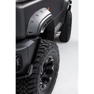 WALD Black Bison(ブラックバイソン)オーバーフェンダー+OF飾りビス(メッキ仕上げ)セット スズキ ジムニーシエラJB74用 ns-stage