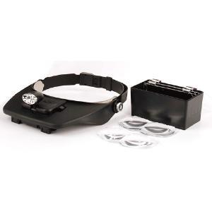 2LEDライト付きヘッドルーペ 4枚レンズ付 「 拡大鏡 ルーペ 」 nshop-y