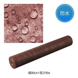 ペーパーシーツ 防水タイプ ブラウン ( 1本単位 ) 幅80cm×長さ95m 「 ベッドシーツ 使い捨てシーツ 」|nshop-y
