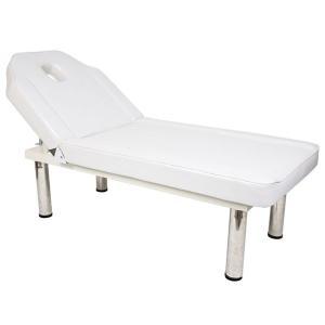 リクライニングベッド ( 有孔 ) 長さ185cm×幅75cm×高さ全5種 ホワイト天板 ステンレス脚 「 マッサージベッド 施術ベッド 整体ベッド 」◆|nshop-y|02