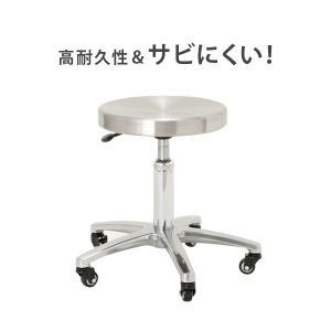 ステンレススツール DX 高さ38-50cm 「 スツール イス 椅子 チェア 」