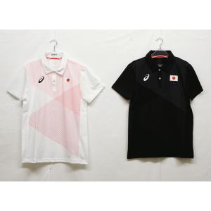 トレーニングウェア アシックス(asics) 日本代表オンコートポロシャツ 2033A158−半袖シャツ|nsp-nishinagasports