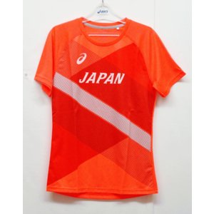 陸上ウェア アシックス(asics) 陸上日本代表レプリカTシャツ 2091A328-600−半袖シャツ|nsp-nishinagasports