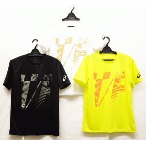 陸上ウェア アシックス(asics) プリントショートスリーブトップ 2091A414−半袖Tシャツ|nsp-nishinagasports