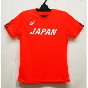 陸上ウェア アシックス(asics) 陸上日本代表応援Tシャツ 2093A043-600−半袖シャツ