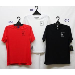 メンズテニスウェア ナイキ(NIKI) 2017FA コートブリーズベースラインRBWS/Sトップ 856408−半袖Tシャツ|nsp-nishinagasports
