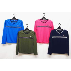テニスウェアレディース フィラ(FILA) 2020ロングスリーブゲームシャツ VL2229−長袖シ...