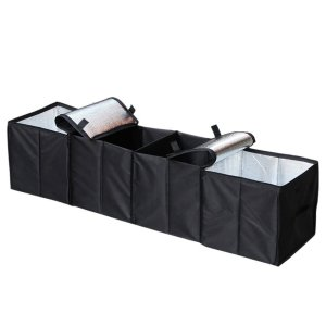 Fbest 車用収納ボックス 大容量 車載 収納ケース 折りたたみ 収納 ラゲッジ 防水 滑り止め ...