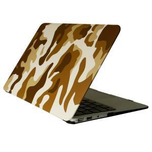 オウルテック MacBook Air 11インチ用 ハードケース カモフラージュデザイン ブラウン