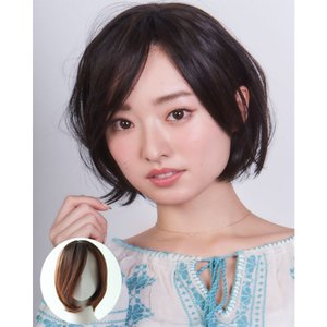 送料無料 フルウィッグ「アンバランスグラデーションボブ」1枚 アシンメトリースタイルでシルエットのキレイな髪型 スッキリ軽い仕上がり|ntc-yh