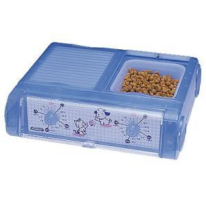 山佐時計計器 YAMASA 自動給餌器 わんにゃんぐるめ 小型犬・猫兼用/2食分 クリアブルー CD-400 534002|nts
