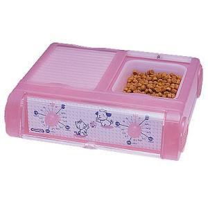 山佐時計計器 YAMASA 自動給餌器 わんにゃんぐるめ 小型犬・猫兼用/2食分 クリアピンク CD-400 534019|nts