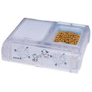 山佐時計計器 YAMASA 自動給餌器 わんにゃんぐるめ 小型犬・猫兼用/2食分 クリア CD-400 534026|nts