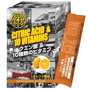GOLD'S GYM ゴールドジム クエン酸&10種類のビタミン オレンジ風味 10g×14包 831231|nts