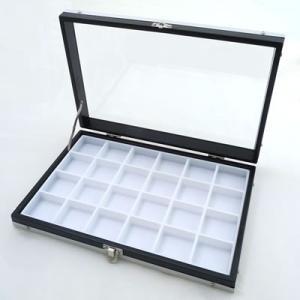 ガラスアルミケースM 40mm角ルースケース用 黒:白 No.9818 nts